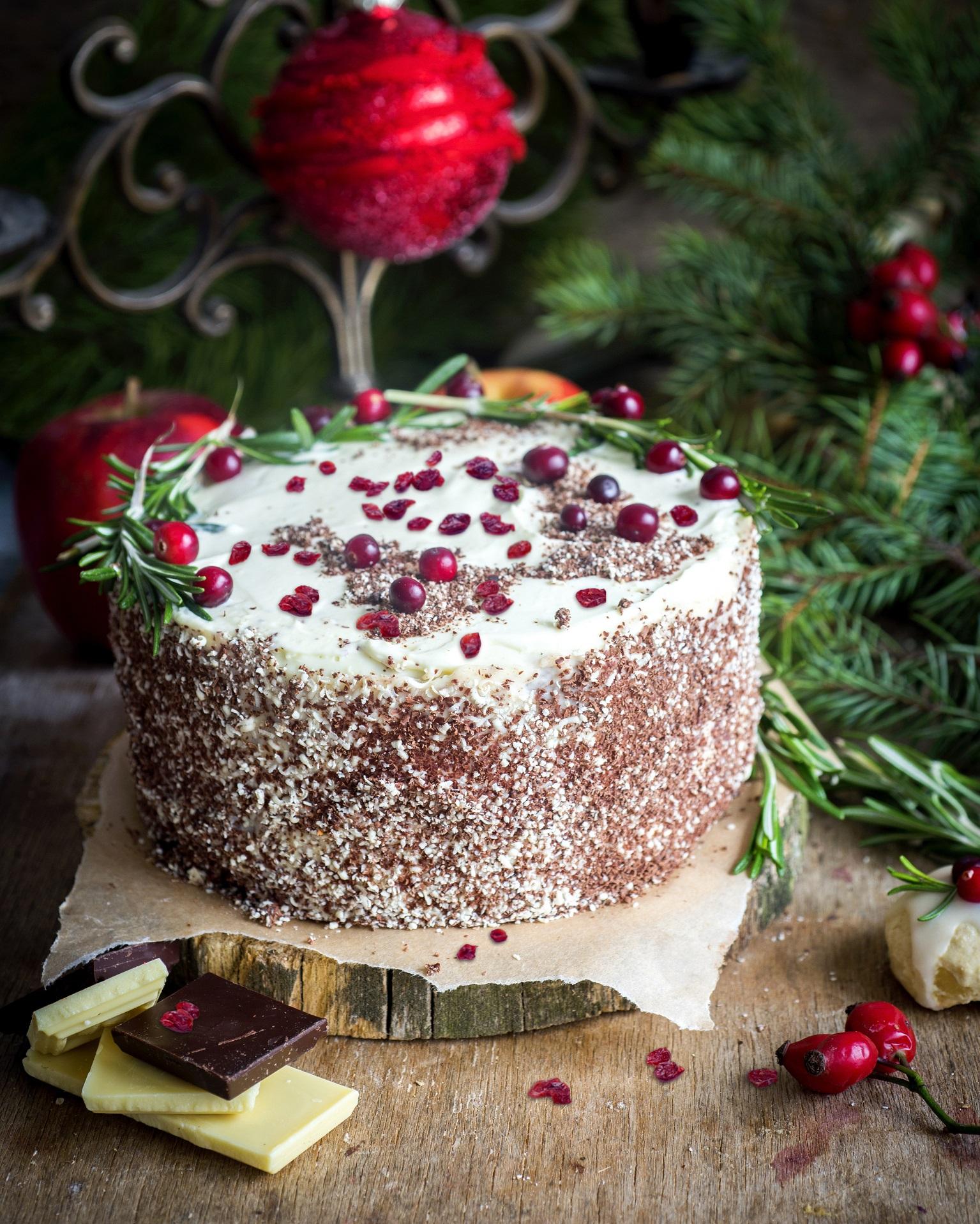 Żurawinowy tort na powitanie Nowego Roku